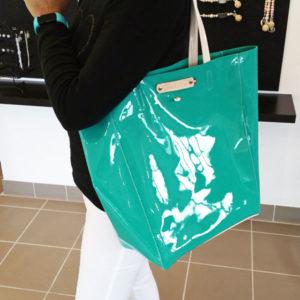 Le Quiberon en cuir vernis 2 couleurs