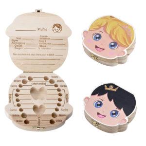 Boîte à Dents en bois coloré