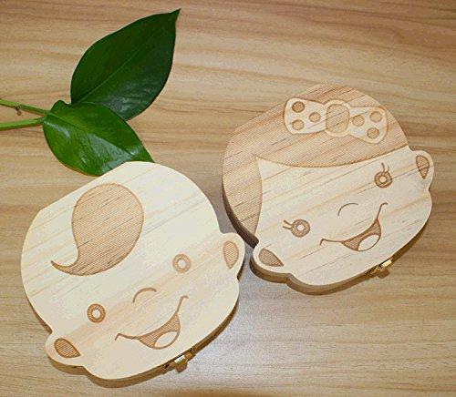boite à dents en bois naturel