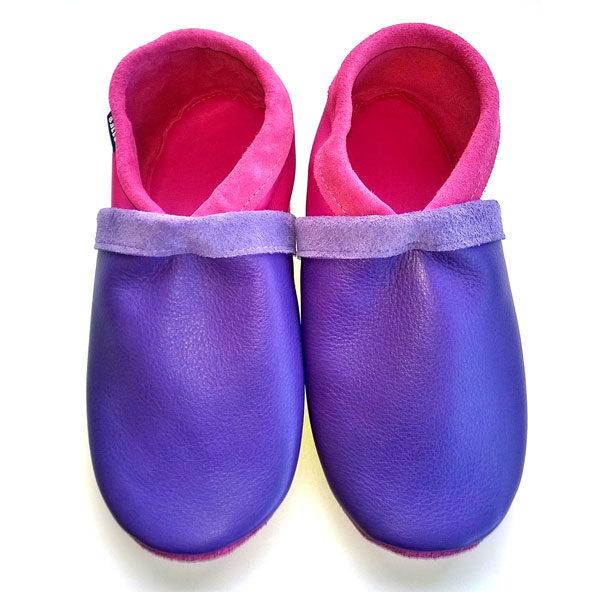 chaussons français bicolores