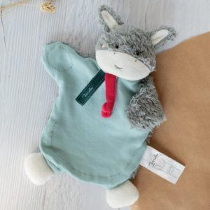 Doudou Ane Marionnette 25cm Coton Bio